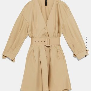 ZARA Belted Dress NEW WITH TAGS NEVER WORN